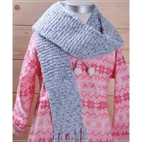 魔法Baby ~日本進口毛線純手工編織女童圍巾~外出用品~k00712 ~f