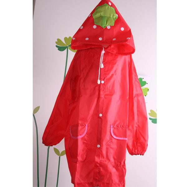 魔法Baby ~ 日單草莓造型雨衣 ~ k04208