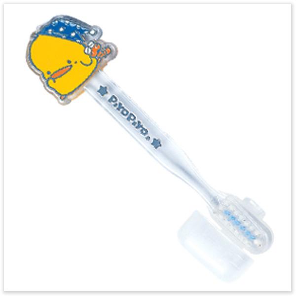 ★ 魔法Baby ★【黃色小鴨戴帽鴨造型兒童牙刷☆清潔用品☆y830115】