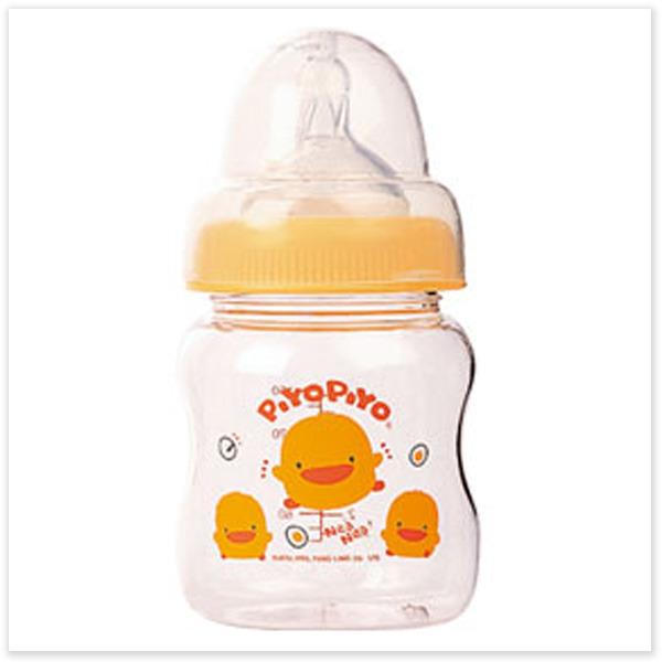 ★ 魔法Baby ★【黃色小鴨寬口徑葫蘆型玻璃奶瓶(120C.C.)☆哺育用品☆y83457】