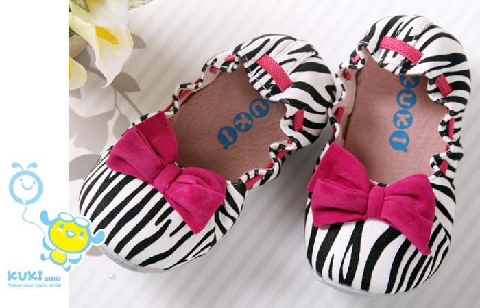 ★ 魔法Baby ★KUKI 酷奇甜美時尚斑馬紋娃娃鞋☆女童鞋☆s3351