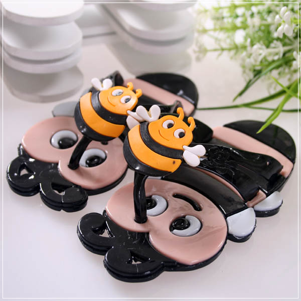 魔法Baby ~KUKI 酷奇可愛蜜蜂造型俏皮系脫鞋(黑)~男童鞋~s5874