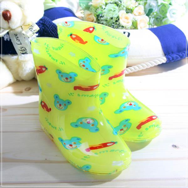 魔法Baby ~知名品牌 KUKI 酷奇短筒雨鞋(小熊)~兒童彩色雨鞋~sh0491