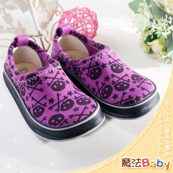 魔法Baby~日本大暢銷質感系小骷髏休閒包鞋~男女童鞋~時尚設計童鞋~sh0613