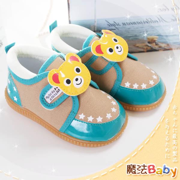 魔法Baby~【KUKI酷奇】俏皮系立體小熊造型星星款寶寶啾啾鞋~男童鞋~時尚設計童鞋~sh0958