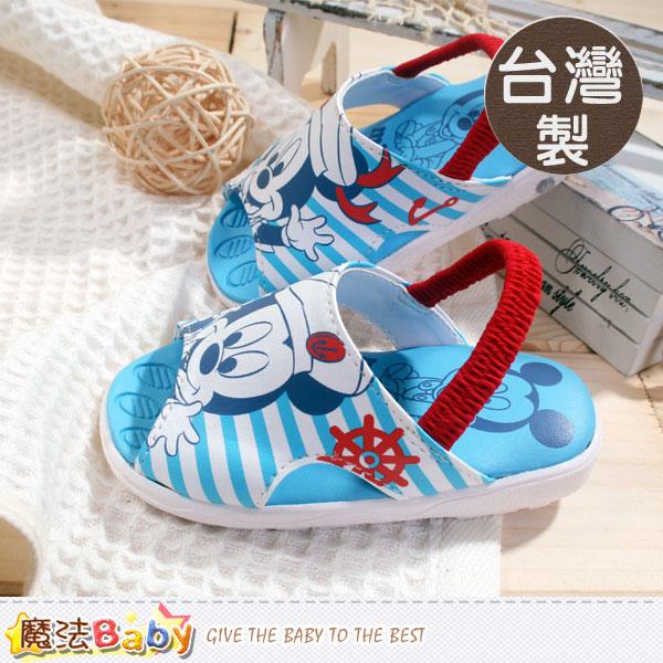 寶寶涼鞋 台灣製專櫃款迪士尼米奇嗶嗶鞋 魔法Baby~sh5618