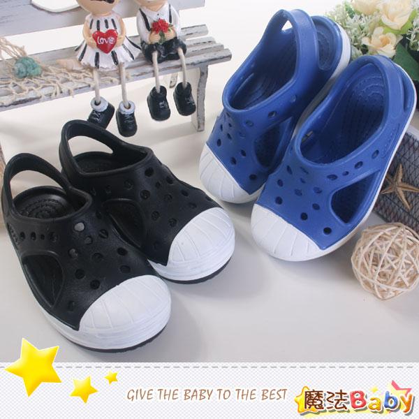 童鞋 超輕量小童水陸兩用輕便鞋(黑,藍) 魔法Baby~sh6913