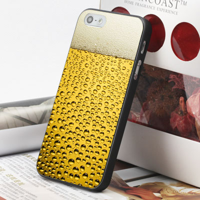 [機殼喵喵] Apple iPhone 6 6S i6 i6P i6S 手機殼 外殼 客製化 水印工藝 WZ038 啤酒氣泡