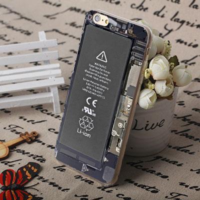 [機殼喵喵] Apple iPhone 6 6S i6 i6P i6S 手機殼 外殼 客製化 水印工藝 WZ239 電池圖案