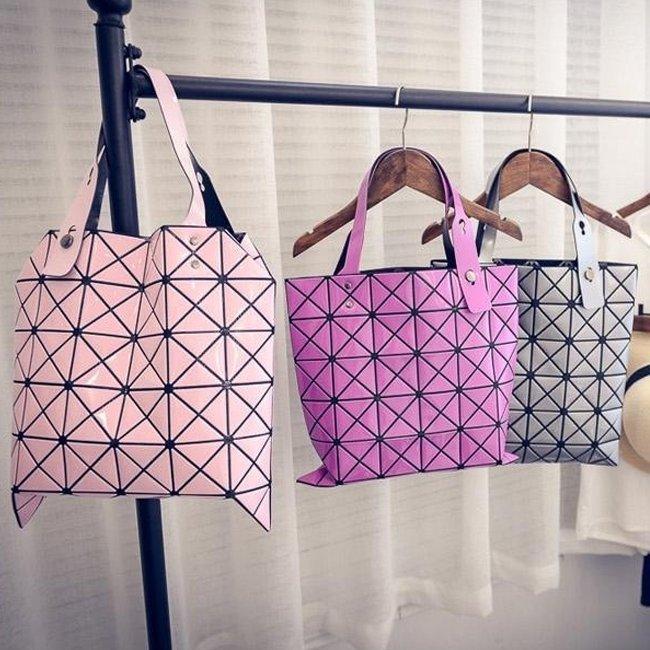 Anne&Alice包包購~熱賣新款復古幾何方塊多彩菱格包手提包肩背包~
