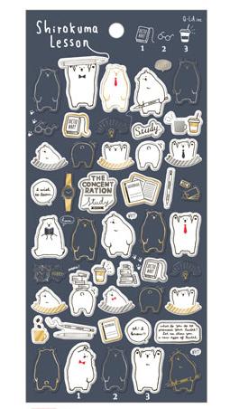 *小徑文化*日本進口 Q-Lia 箔押透明貼紙系列 - 北極熊的課 ( 11097 )