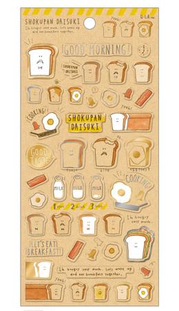 *小徑文化*日本進口 Q-Lia 箔押透明貼紙系列 - 最喜歡麵包 ( 11098 )