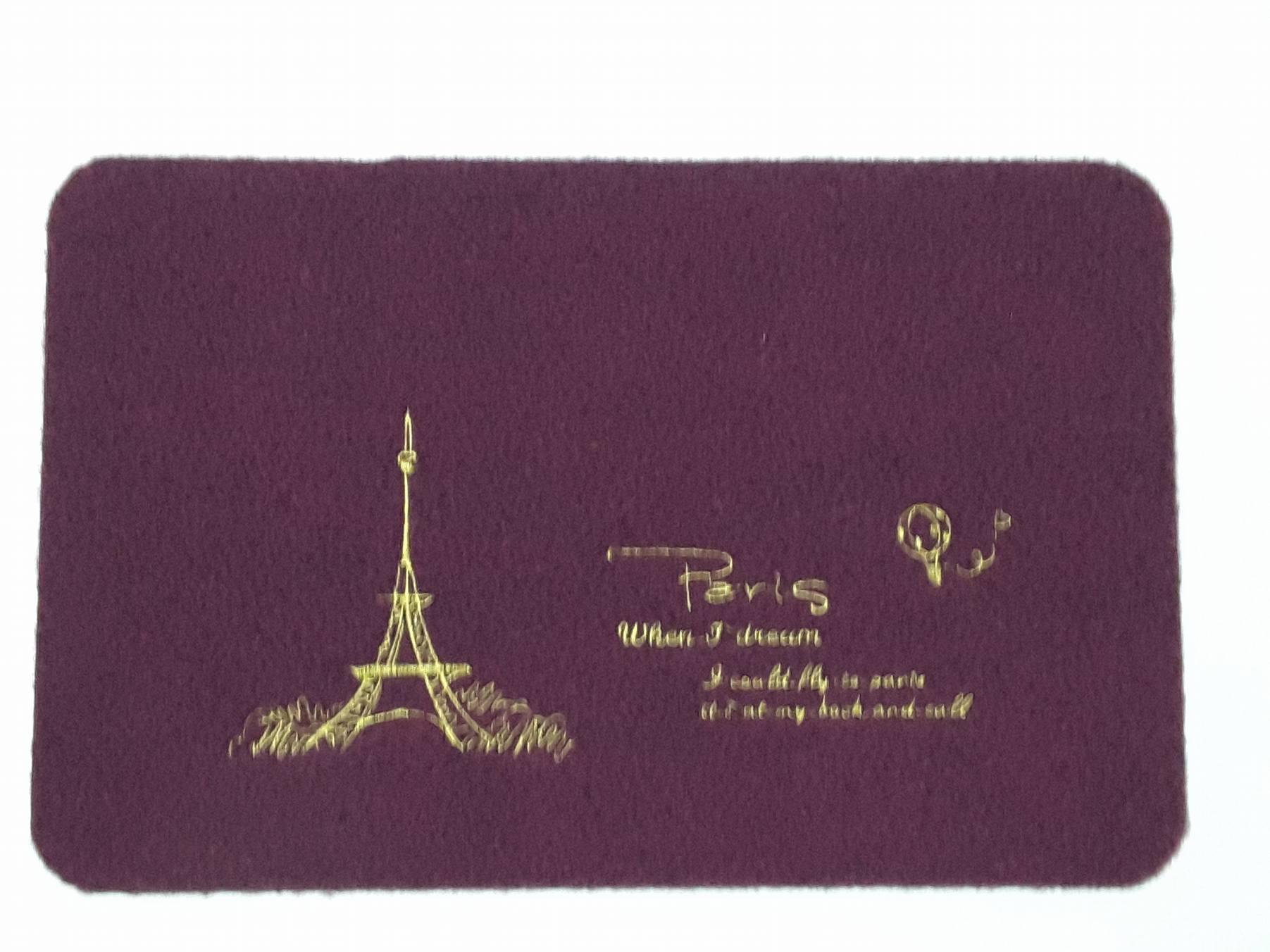 La maison生活小舖《歐風絨毛繪圖地墊腳踏墊》巴黎艾菲爾鐵塔圖案  耐用防滑 玄關、客廳、車裡皆適用 不同於一般刮泥圖案 放在美觀大方 地墊/軟墊/腳踏墊/止滑墊/刮泥墊/車用墊