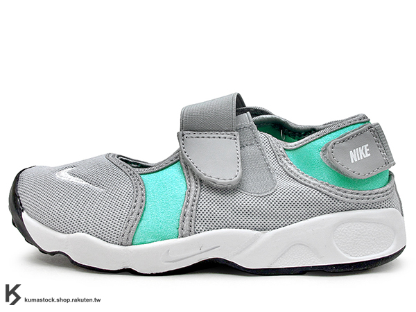 [16cm] 2016 台灣未發售 NSW 輕量舒適 NIKE LITTLE RIFT TD BT 幼童鞋 BABY 鞋 灰銀粉綠 忍者鞋 無鞋帶黏扣 (311549-013) !