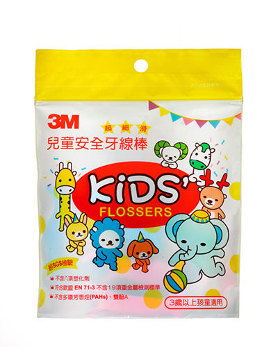 【3M】超細滑兒童安全牙線棒(38支/袋)