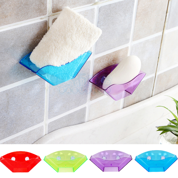 多功能吸盤式廚房瀝水架/浴室置物架  (1入)【巴布百貨】