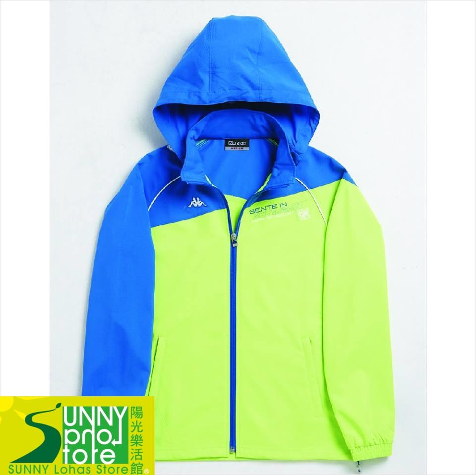 [陽光樂活] KAPPA (女) 單層風衣外套  運動風衣外套  FC52-C821-4 螢光綠