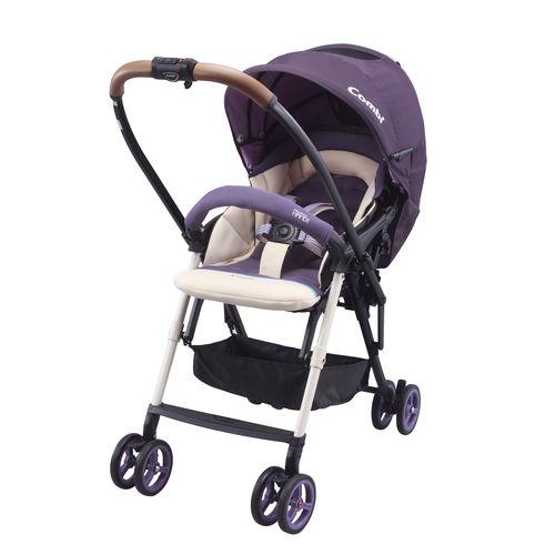 ★衛立兒生活館★康貝 Combi Mechacal Handy Plus 最輕量雙向推車-鬱金香紫(全罩升級版)