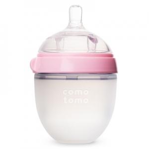 韓國【Comotomo】矽膠奶瓶 150ML-1入裝(粉)