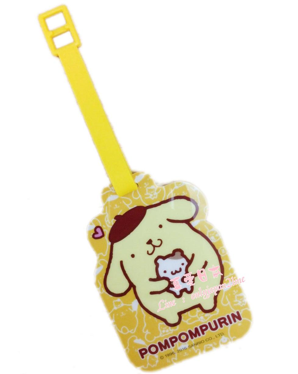 【真愛日本】16081600010卡式姓名吊牌-PN黃  三麗鷗家族 布丁狗 吊牌 名片夾 證件夾