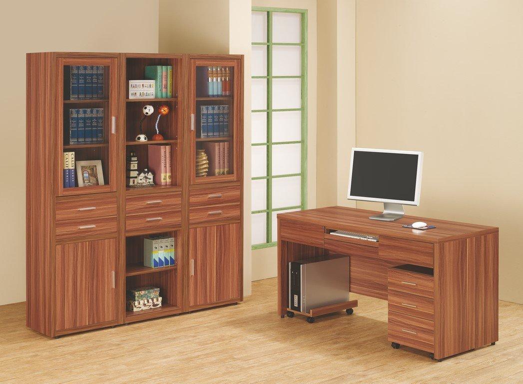 【石川家居】OU-713-4 (P18) 柚木色潘迪蘋果2尺右開書櫃 (不含其他商品) 需搭配車趟