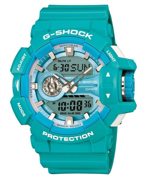 國外代購 CASIO G-SHOCK GA-400A-2A 雙顯 運動防水手錶腕錶電子錶男女錶 湖水綠