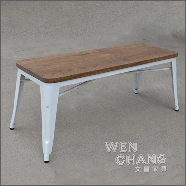 Tolix實木長凳 雙人長凳 雙人椅 木加鐵 可做茶几/電視櫃 ST-031 *文昌家具*