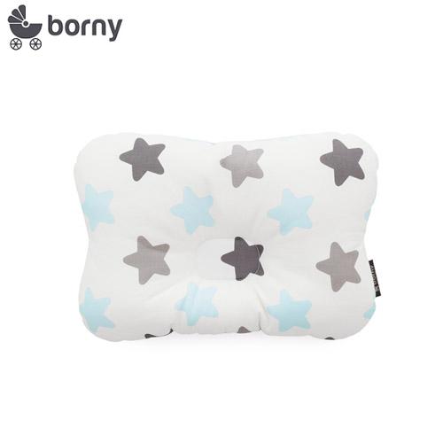 韓國【 Borny 】 3D透氣蜂巢塑型嬰兒枕(0~6個月適用)(蜜糖藍)