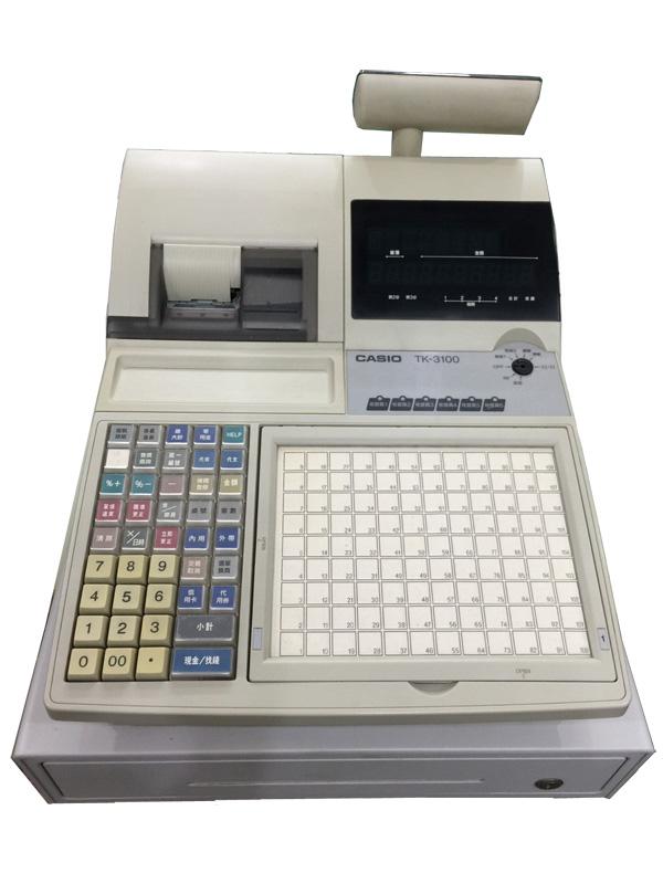 CASIO TK-3100 二聯式發票收銀機 → 中古二手機 含錢櫃