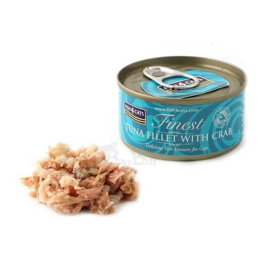 【海洋之星FISH4CATS】鮪魚蟹肉貓罐 (70g/罐)