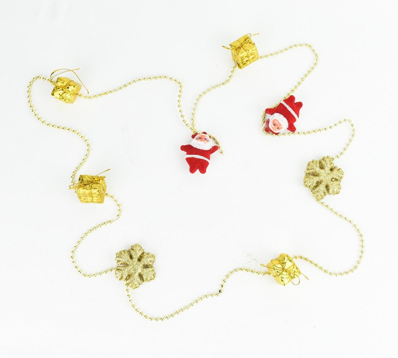X射線【X297069】禮物包老人雪花鍊珠串,聖誕節/聖誕樹/聖誕佈置/聖誕掛飾/裝飾/掛飾/會場佈置/DIY/材料包