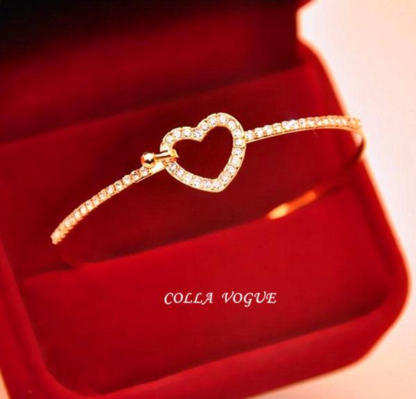 ✻蔻拉時尚✻ [ASB23] COLLA_ 韓國 愛心造型時尚經典手環 甜美 迷人
