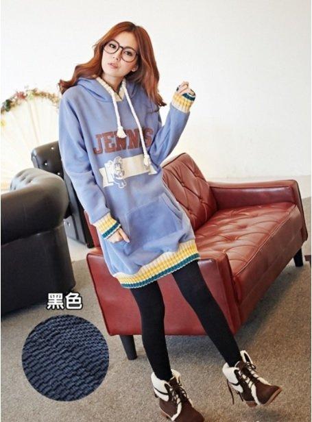 愛紗襪品九分內搭褲保暖褲襪凹凸織法(黑色/麻花黑)單雙台灣製造