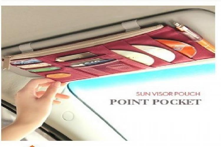 汽車 遮陽板 掛包 置物袋 汽車用品 J1711-010 【艾肯居家生活館】