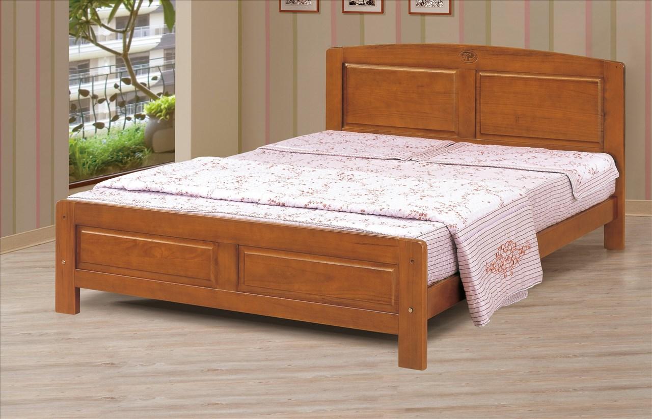 【石川家居】CM-175-2 克勞德5尺柚木雙人床架 (不含其他商品) 需搭配車趟