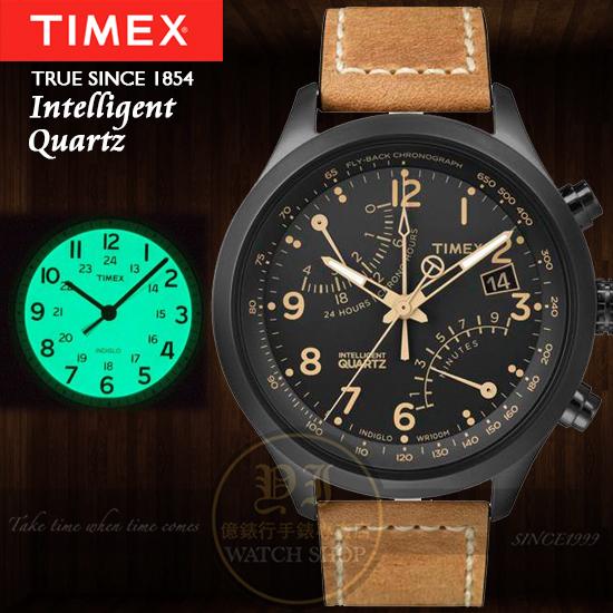 TIMEX美國第一品牌IQ系列飛鷹計劃計時腕錶T2N700公司貨/情人節/禮物/聖誕節