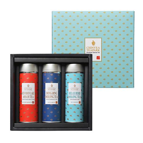 《沁意》臻藏 台灣人氣茶包禮盒 (日月潭紅茶+凍頂烏龍茶+舒活烏龍茶)
