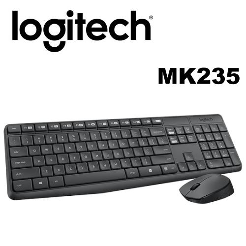 Logitech 羅技 MK235 無線鍵鼠組 滑鼠有電源開關 防退色處理!! 即插即用無線連接