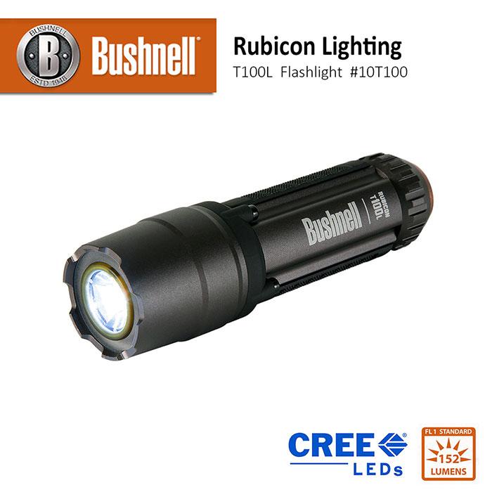 【美國 Bushnell 倍視能】Rubicon 戶外照明系列 T100L 152流明 小型LED戰術防爆手電筒 #10T100 (公司貨)