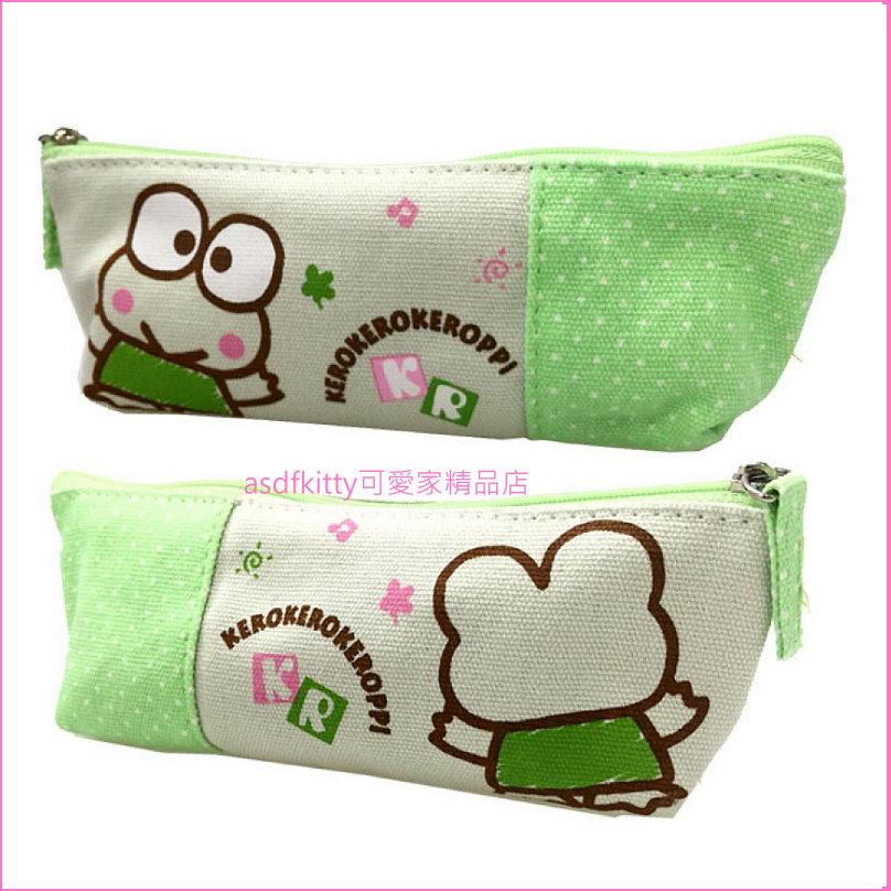 asdfkitty可愛家☆大眼蛙筆袋/收納袋/鉛筆盒/文具袋-日本正版商品
