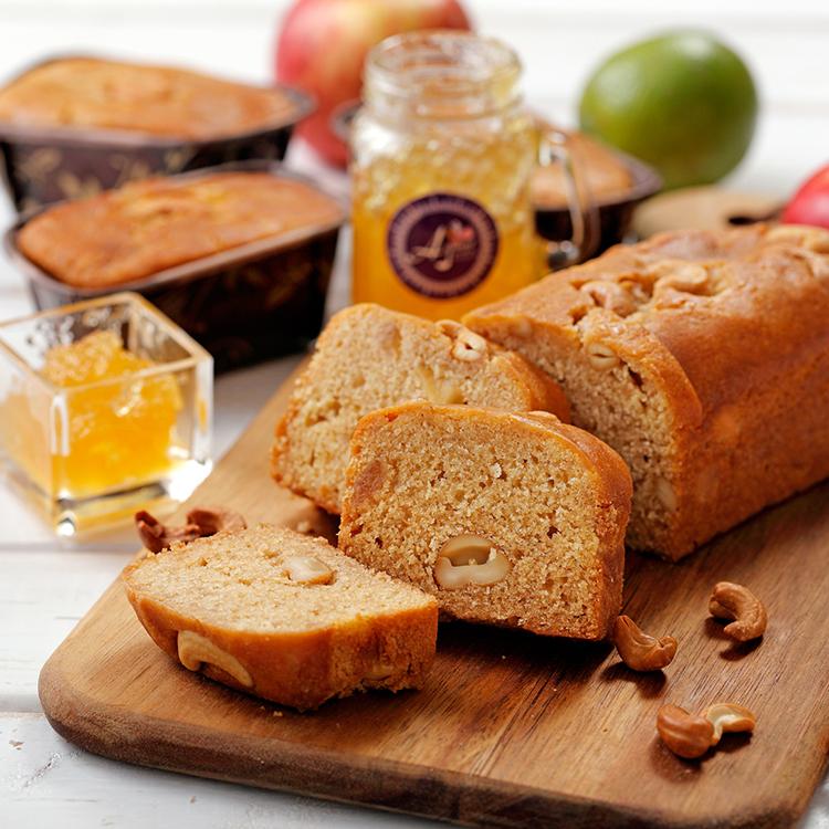 蘋果腰果磅蛋糕-腰您蘋安富桂(120g或500g/條)