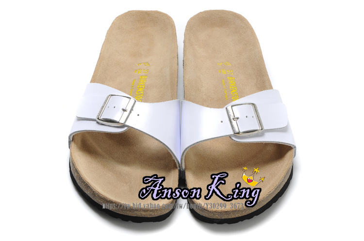 [Anson King]Outlet正品代購 birkenstock Madrid系列 男女款 懶人涼拖鞋 白色