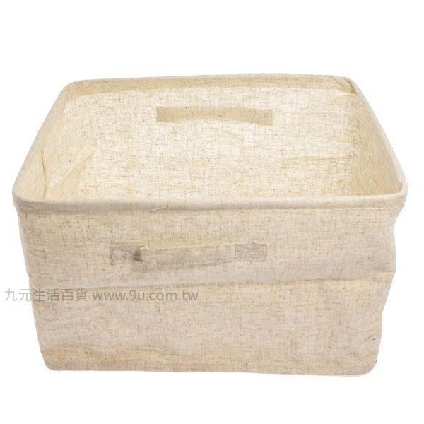 【九元生活百貨】森 棉麻收納盒/大 摺疊收納 布質收納 無印