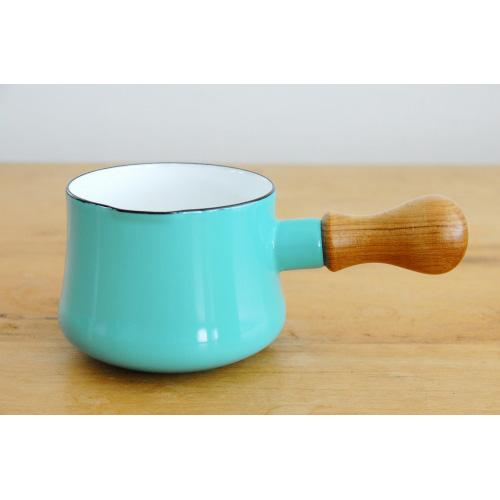 日本 DANSK 琺瑯牛奶鍋 550ml 水藍色