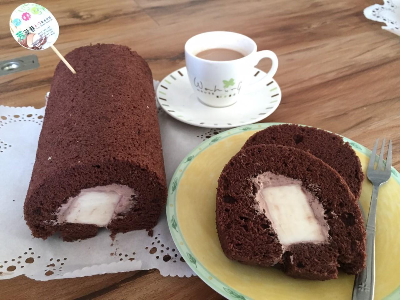 堅持新鮮現作手工巧克力奶凍捲450g - 芳草巷手作素食工坊