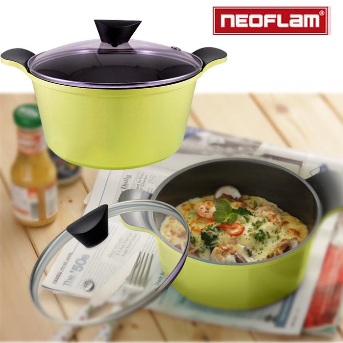 【NEOFLAM】Venn系列頂級陶瓷不沾湯鍋 EC-VE-C24-Y黃色