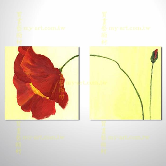 2拼花卉A02,橫幅,藝術拼套畫,純手工油畫,客製臨摹抽象,居家佈置,門市,飯店,餐廳,民宿,辦公室,室內設計首選