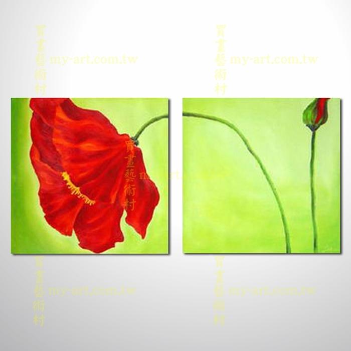 2拼花卉A05,藝術拼套畫,純手工油畫,客製臨摹抽象,居家佈置,門市,飯店,餐廳,民宿,辦公室,室內設計首選