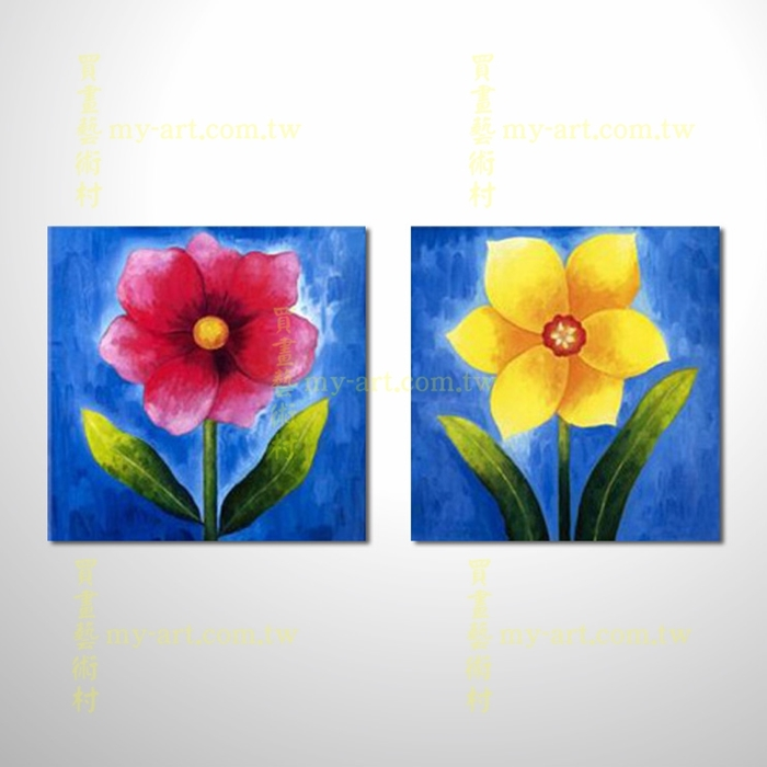 2拼花卉A16,藝術拼套畫,純手工油畫,客製臨摹抽象,居家佈置,門市,飯店,餐廳,民宿,辦公室,室內設計首選