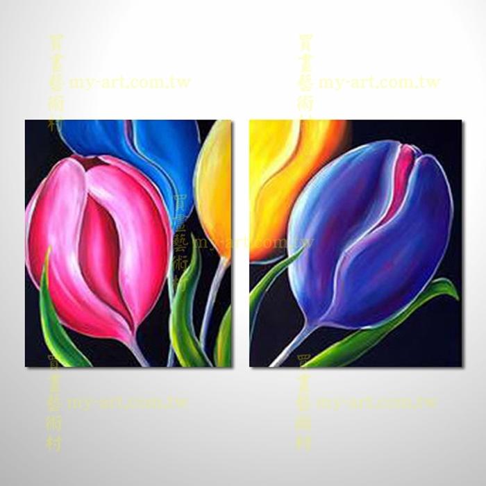 2拼花卉A26,藝術拼套畫,純手工油畫,客製臨摹抽象,居家佈置,門市,飯店,餐廳,民宿,辦公室,室內設計首選